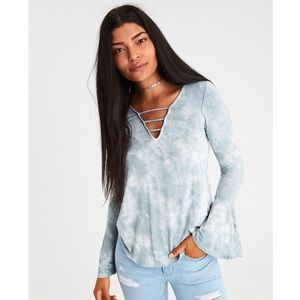 AEO Soft & Sexy Bell Sleeve Top